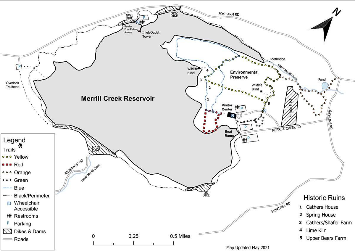 Merrill Creek Trail Map 2021