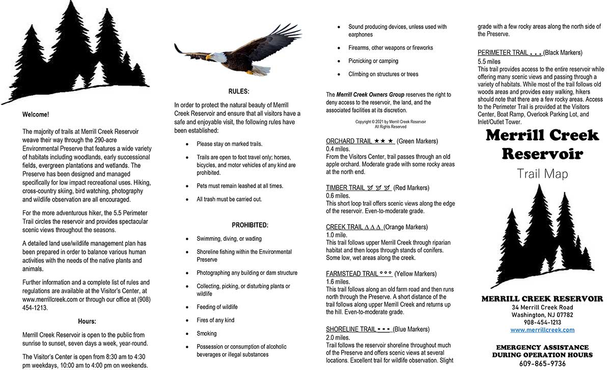 Trail Map Brochure 2021